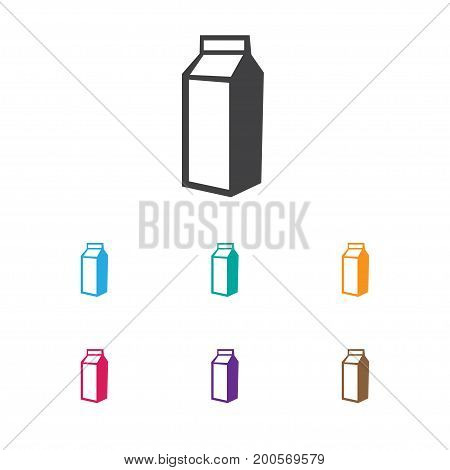 Vector Illustration Of Cooking Symbol On Lactose Icon