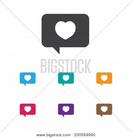 Vector Illustration Of Passion Symbol On Affection Mail Icon