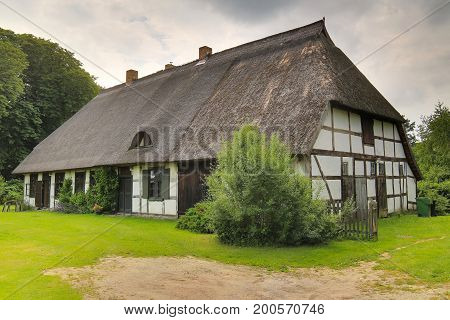 House Listed As Monument In Dersekow, Mecklenburg-vorpommern, Germany