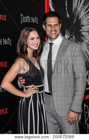 NEW YORK, NY - AUGUST 17: Mary Parlapanides (L) and screenwriter Vlas Parlapanides attend the 'Death Note' New York premiere at AMC Loews Lincoln Square 13 theater on August 17, 2017 in New York City