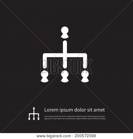 Hierarchy Vector Element Can Be Used For Hierarchy, Corporate, Team Design Concept.  Isolated Corporate Icon.