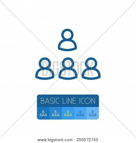Staff Vector Element Can Be Used For Group, Staff, Unity Design Concept.  Isolated Group Outline.
