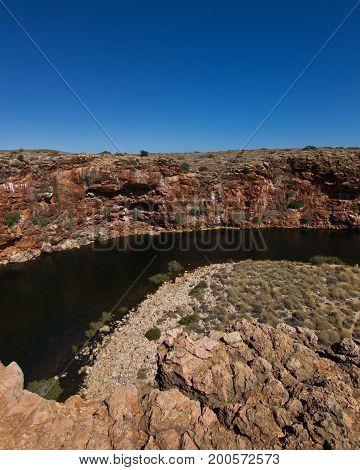 Blue Sky in Yardie Creek in Western Australia, Australia
