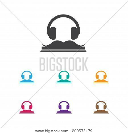 Vector Illustration Of Education Symbol On Audiobook Icon