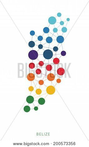dotted texture Belize vector rainbow colorful background