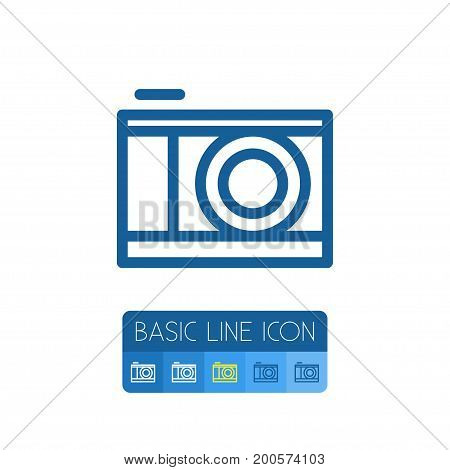 Snapshot Vector Element Can Be Used For Snapshot, Lens, Camera Design Concept.  Isolated Lens Outline.