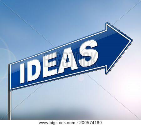 Ideas Sign Concept.