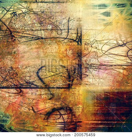 Art vintage texture, decorative grungy background. With different color patterns