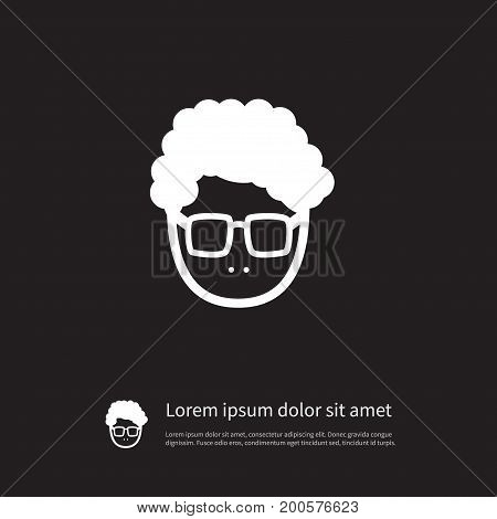 Male Vector Element Can Be Used For Male, Young, Person Design Concept.  Isolated Young Person Icon.