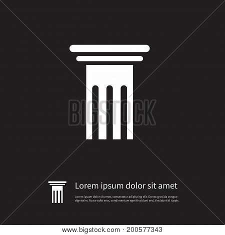 History Vector Element Can Be Used For Pillar, History, Column Design Concept.  Isolated Pillar Icon.