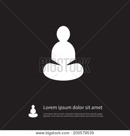 Yoga Vector Element Can Be Used For Yoga, Meditation, Asana Design Concept.  Isolated Asana Icon.