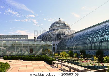 SAINT PAUL, MINNESOTA- AUGUST 2017:  Como Zoo and Conservatory in St. Paul, MN during the summer