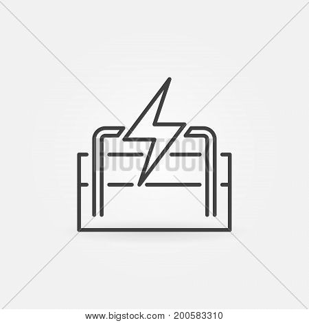 Geothermal energy linear icon. Vector renewable energy outline concept sign