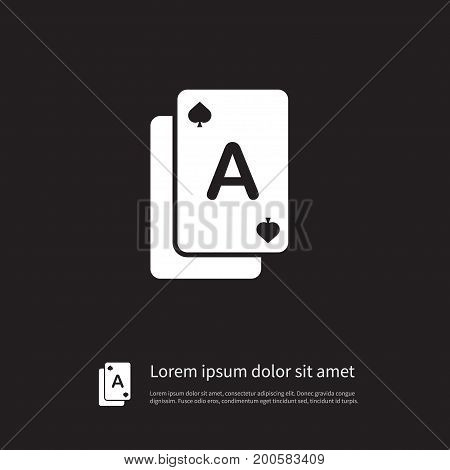 Poker Vector Element Can Be Used For Poker, Gamble, Casino Design Concept.  Isolated Gamble Icon.