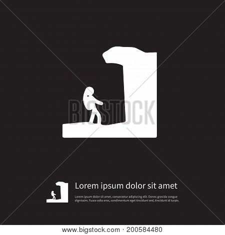 Arete Vector Element Can Be Used For Arete, Hiking, Alpinist Design Concept.  Isolated Hiking Icon.