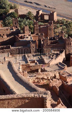 Kasbah Ait Ben Haddou Morocco Africa. UNESCO World Heritage Site.