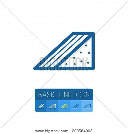 Hamburger Vector Element Can Be Used For Hamburger, Burger, Snack Design Concept.  Isolated Triangle Snack Outline.
