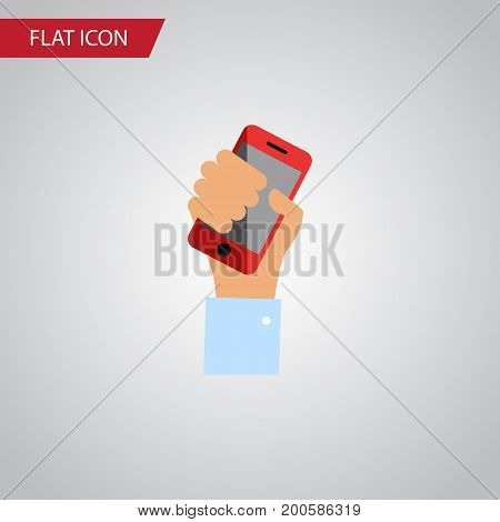 Cellphone Vector Element Can Be Used For Smartphone, Cellphone, Holding Design Concept.  Isolated Holding Flat Icon.