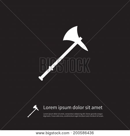 Blade Vector Element Can Be Used For Blade, Lumberjack, Ax Design Concept.  Isolated Lumberjack Icon.