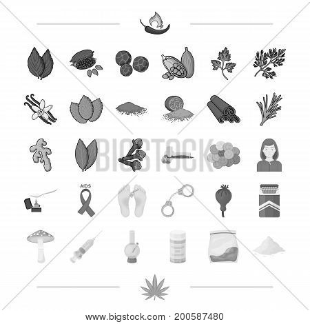 spices, business, hobbies and other  icon in black style.sore, addiction, problems, icons in set collection.