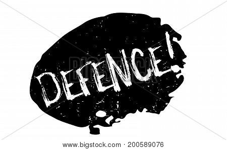 Defence rubber stamp. Grunge design with dust scratches. Effects can be easily removed for a clean, crisp look. Color is easily changed.