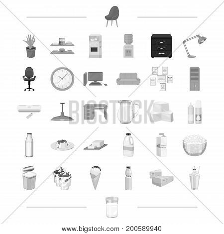 furniture, office, electrical and other  icon in black style.appliance food, cooking, shopping icons in set collection.