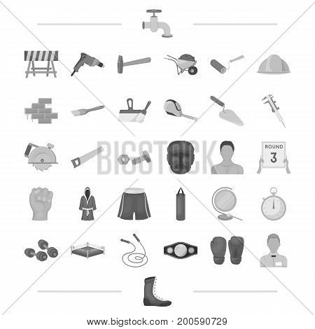 building, architecture and other  icon in black style.sport, boxing, Olympics icons in set collection.