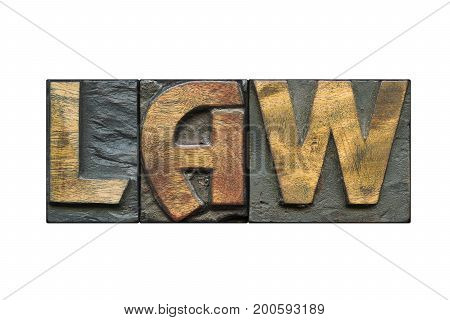 Law Word Isolated