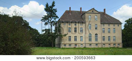 Manor House, Listed As Monument In Alt Plestlin, Mecklenburg-vorpommern, Germany