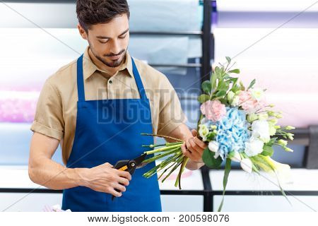 Florist Cutting Flowers