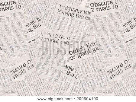 Vintage newspaper pattern. Aged paper newspaper background
