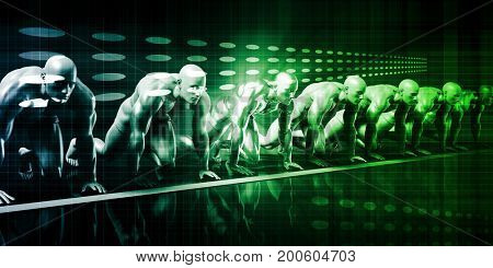 Biotechnology or Biology and Technology Research Concept 3D Illustration Render