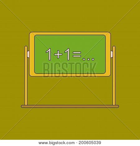 flat icon with thin lines school blackboard