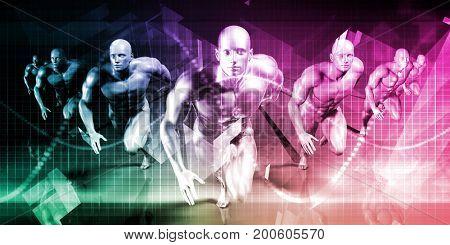 High Performance Business Concept as a Presentation Background 3D Illustration Render