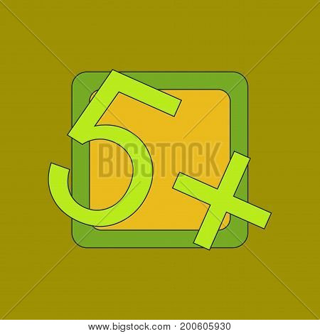 flat icon with thin lines exam score excellent