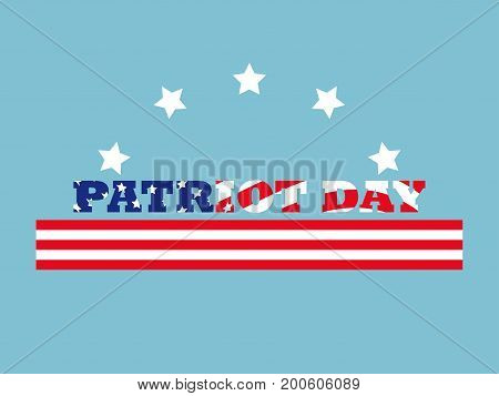Patriot Day. Memorial Day 9/11. Vector Illustration