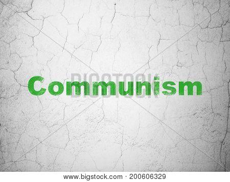 Politics concept: Green Communism on textured concrete wall background