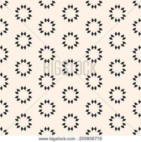Vector geometric seamless texture, floral tile pattern. Abstract minimalist monochrome background with simple geometrical shapes, flowers stars. Oriental design for decor, prints, textile, furniture. Design pattern, oriental pattern.