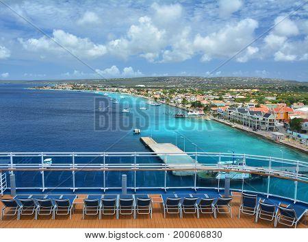 Cruise Ship In Bonaire