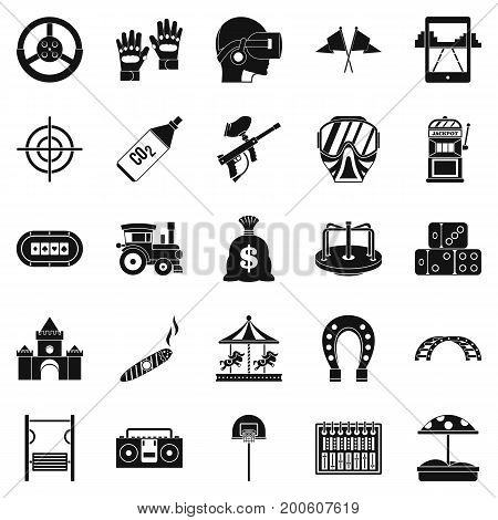 Active rest icons set. Simple set of 25 active rest vector icons for web isolated on white background