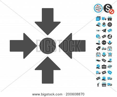Meeting Point gray pictograph with free bonus pictograph collection. Vector illustration style is flat iconic symbols.