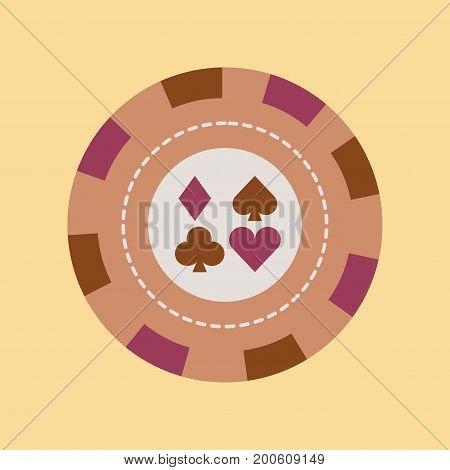 flat icon on stylish background poker chips