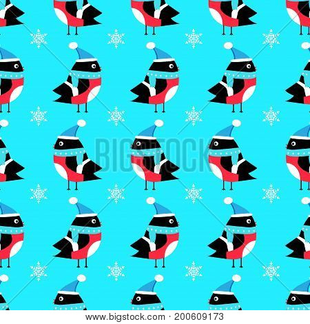 Bullfinch seamless pattern vector paper, decor, xmas, feather
