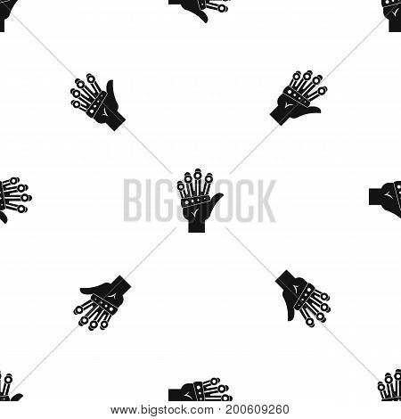 Vr manipulator pattern repeat seamless in black color for any design. Vector geometric illustration