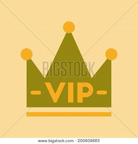 flat icon on stylish background crown royal
