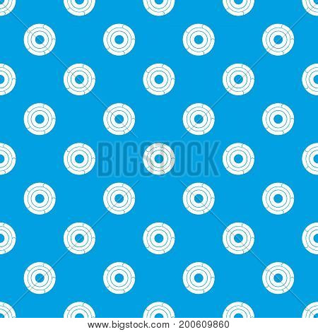 Chart pie with arrows pattern repeat seamless in blue color for any design. Vector geometric illustration