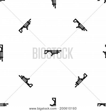 Game gun pattern repeat seamless in black color for any design. Vector geometric illustration