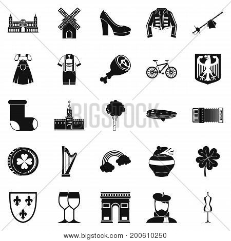 Excellent wine icons set. Simple set of 25 excellent wine vector icons for web isolated on white background