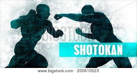 Shotokan Martial Arts Self Defence Training Concept 3D Illustration Render