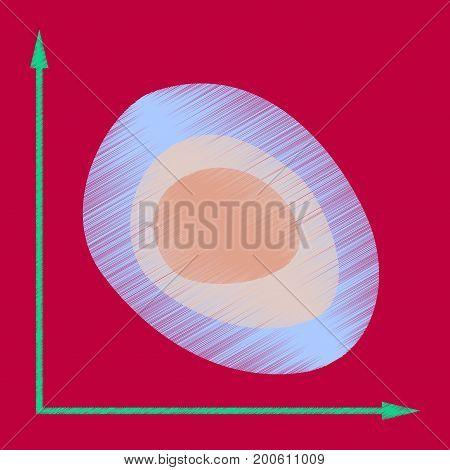 flat shading style icon graph market presentation
